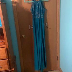 Morgan & Co Greenish Blue Dress